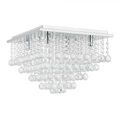 [lux.pro] CEILING LAMP - SPARKLING ART CRYSTALS - CHROME - (4 X G9) CHANDELIERS DESIGN