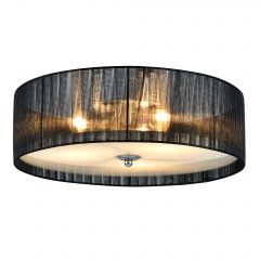 [lux.pro] CONTEMPORARY CEILING LAMP - BLACK / WHITE - 28CM - (3 X E27) CHANDELIERS