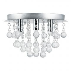 [lux.pro] Contemporary ceiling lamp - Chome silver - 28cm - (3 x G9) Chandeliers