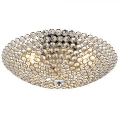 [lux.pro] CEILING LIGHT - SPARKLING CRYSTALS ART - (3 X E 14) - CHROME - CHANDELIER DESIGN - 40 CM Ø