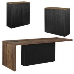 [neu.haus] OFFICE FURNITURE - DESK + 2 CUPBOARDS