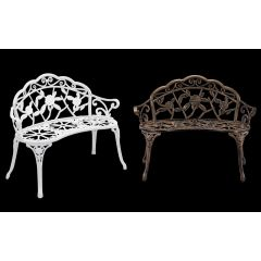 [casa.pro] Vintage Bench Garden Chair Cast Iron Rose Design in Different Colors