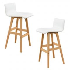 [en.casa] BAR STOOLS - WHITE