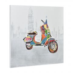 [art.work] HANDPAINTED WALL PAINTING BICYCLE ON CANVAS INCL. FRAME