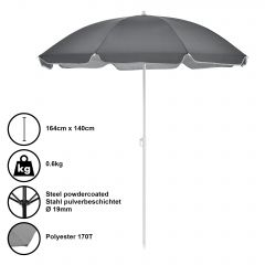 [casa.pro] BEACH UMBRELLA / SUN PROTECTION / CAMPING / GARDEN