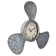 [en.casa] WALL CLOCK MARINE PROPELLER PATTERN - ANALOG - 61 X 7 X 56 CM - COLORED - GLASS