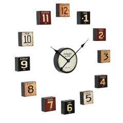 [en.casa] WALL CLOCK – MULTIPLE PARTS - ANALOG – COLORED - 68 X 4 X 68 CM