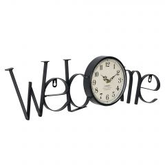 [en.casa] WALL CLOCK WELCOME PATTERN - ANALOG - 60,5 X 3,5 X 16,5 CM - COLORED