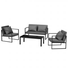 [casa.pro] Garden Furniture - Chairs Coffee Table Sofa - Available in Set or Separately White Black