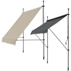 [pro.tec] Retractable Sunshade  with Frame  Awning Grey