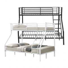 [neu.haus] Metal Bunk Bed 210cm x 147,5cm x 168cm Children Bed Triple Sleeper Double Bed