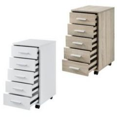 [en.casa] Filing Cabinet with Rollers