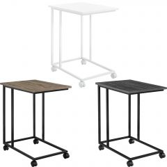 [en.casa] Coffee Table Laptop Table with Wheels and Metal Frame in Different Colors 50x35x60cm