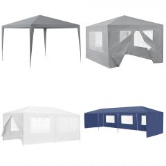 [casa.pro] Garden Pavilion Patio Gazebo with Metal Frame in Multiple Sizes Colors