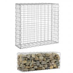 [pro.tec] Gabion Stone Wire Basket Outdoor Metal Basket Cage Wire Galvanized Iron