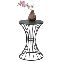 [en.casa] Metal Coffee Table with Hour Glass Form 55,5x37,5cm Black or Copper
