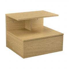 [en.casa] Wall-Mounted Shelf with Drawer Floating Bedside Table Nightstand 40x35x31cm Chipboard Various Colors