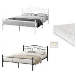 [en.casa] Metal Bed with cold foam mattress - in different colors and sizes