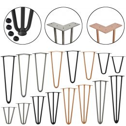 [en.casa] STYLISH TABLE LEGS – HAIRPIN LEGS SET (4 PIECES)