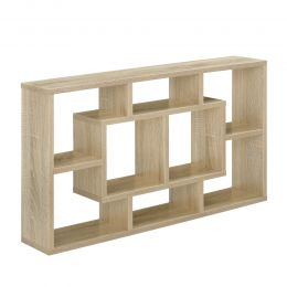 [en.casa] Wall Sehlf with 8 Racks - 85 x 47,5 x 16 cm Design Sonoma Oak Effect