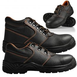 [pro.tec] Work Safety Shoes Boots Steel Toe Waterproof Under Ankle and Over Ankle  Black/Orange
