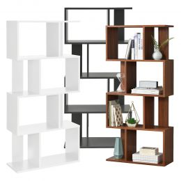 [en.casa] Bookshelf 130x60x24cm Bookcase CD Rack DVD Shelf 8 Box Storage