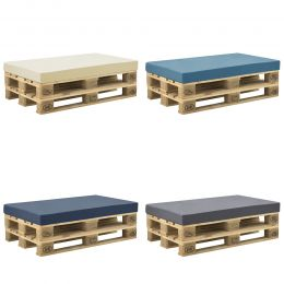 [neu.haus] Euro Pallet Cushion with Cover Outdoor Seating 120x80x10cm in Different Colors