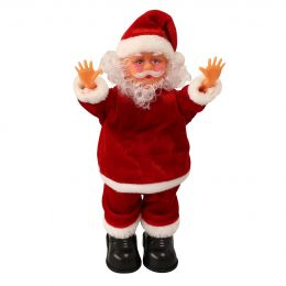 [lux.pro] DANCING & SINGING DELUXE FATHER CHRISTMAS / SANTA CLAUS (31CM) - CHRISTMAS DECORATION