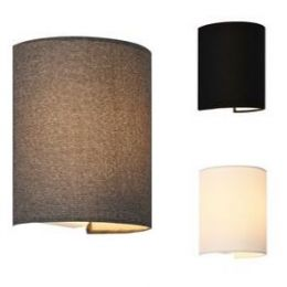[lux.pro] Wall Lamp Half Circle Form Up and Down Indoor Lightning 20 x 17.5 x 13 cm Lampshade from Canvas Cap Type E27