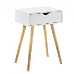 [en.casa] Bedside Table with 1 Drawer