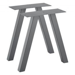 [en.casa] Dining Table Legs Coffee Table Legs in Sets of Two Metal Powder Coated Black or Steel Grey